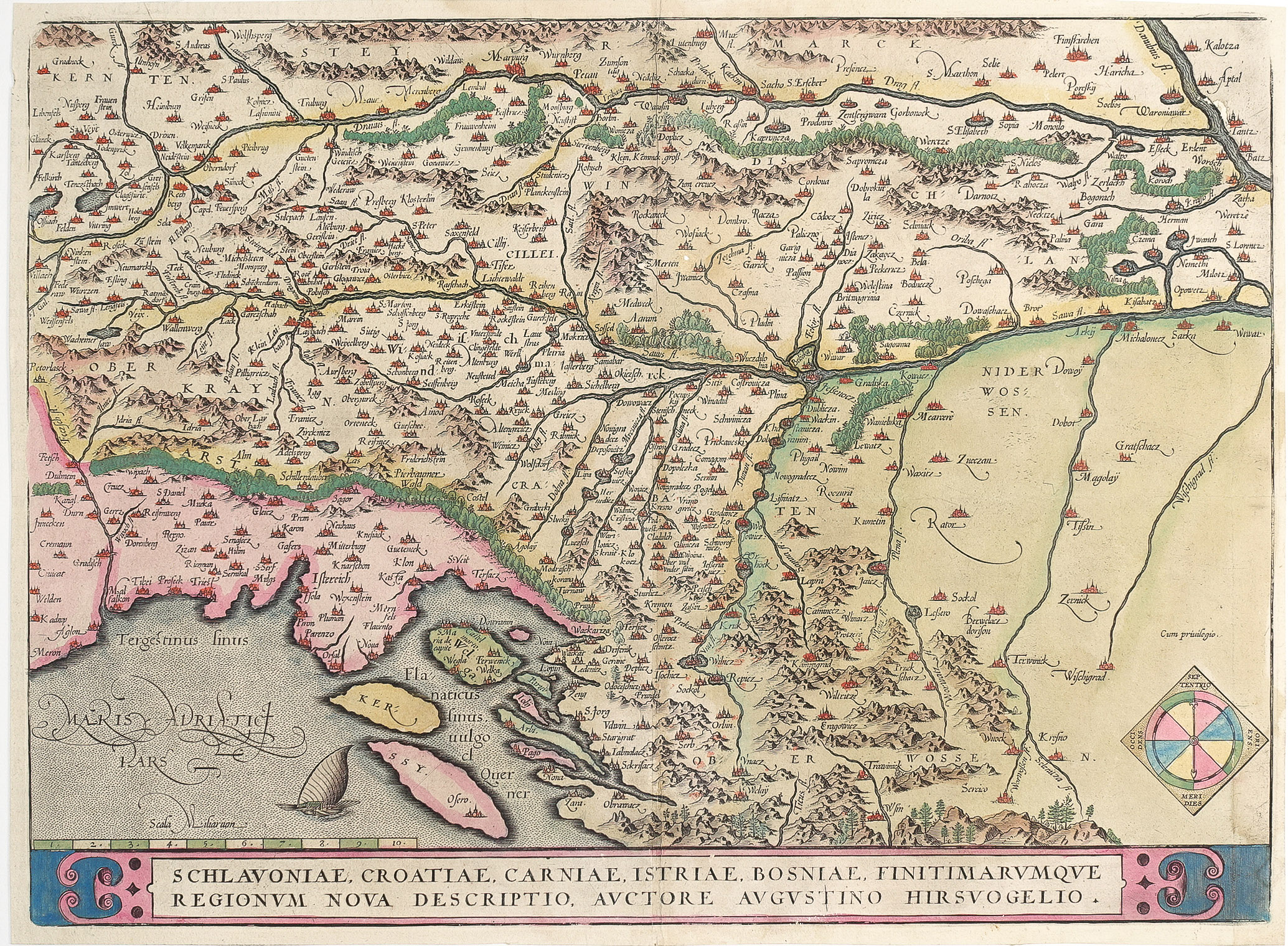 Carte Ancienne Croatie.Carte Geographique Ancienne Croatie Bosnie Istries Original Antique Map